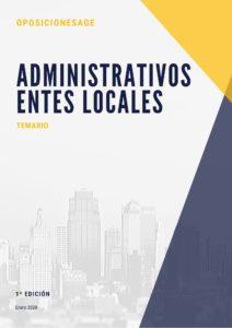 TEMARIO ADMINISTRATIVO DE ENTES LOCALES